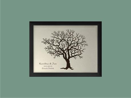 Svatební strom se jmény 44 x 54 cm,