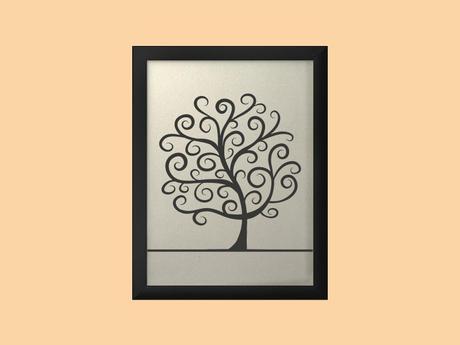 Svatební strom v rámu 34 x 44 cm,