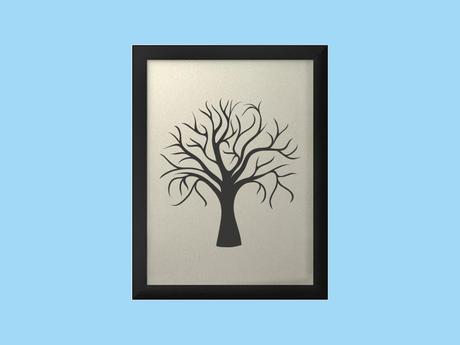 Svatební strom v rámu 43 x 53 cm,
