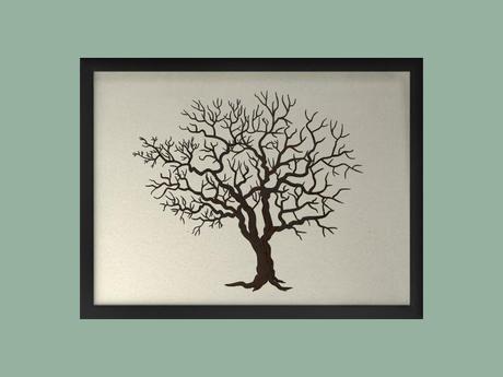 Svatební strom v rámu 53 x 43 cm,
