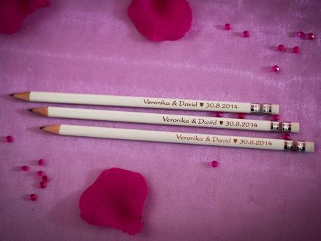 Svatební tužky s Vaším gravírovaným nápisem,