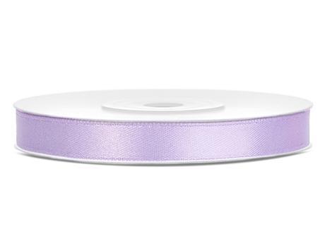 Světle lila saténové stuhy - 25 m / 1,2 cm,