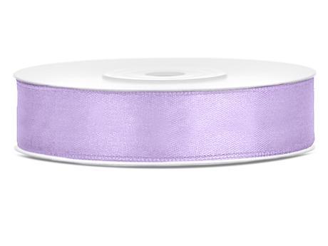 Světle lila saténové stuhy - 25 m / 2,5 cm,
