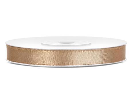 Světle zlaté saténové stuhy - 25 m / 1,2 cm,
