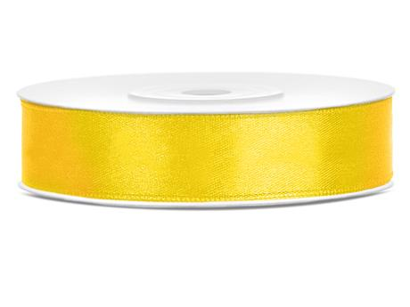 Tmavě žluté saténové stuhy - 25 m / 2,5 cm,