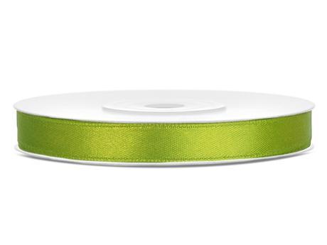 Zelené saténové stuhy - 25 m / 1,2 cm,