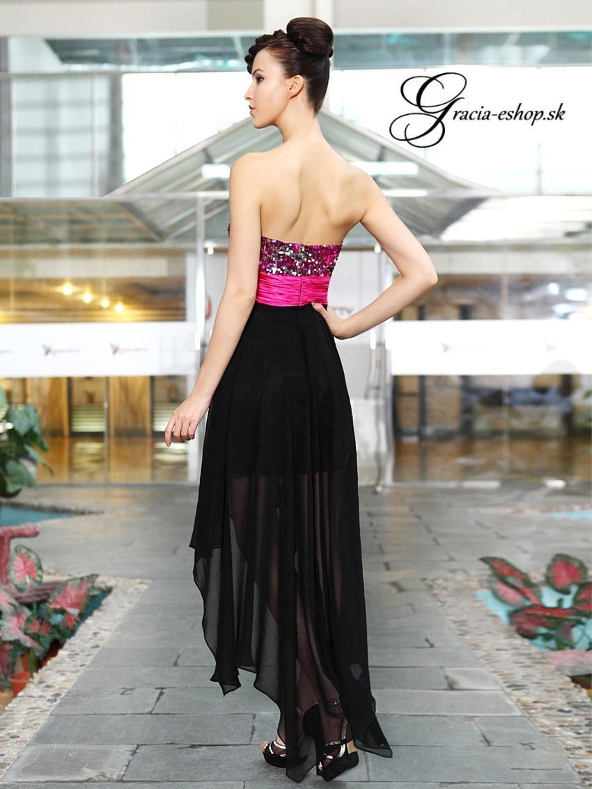 Vpredu krátke vzadu dlhé spoločenské šaty df234320268