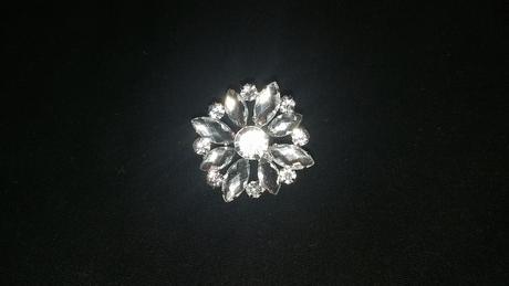 Brošňa Crystal Flower 40 mm,