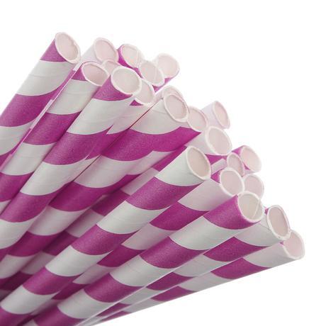 Papírová brčka - pruhovaná,