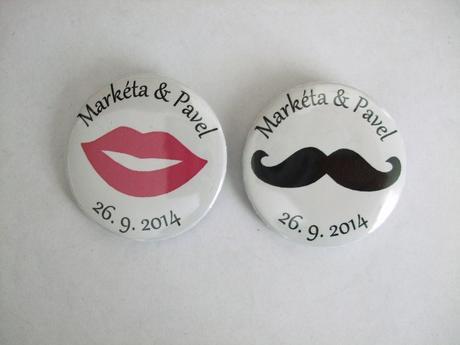 Svatební placka/button - 32mm,