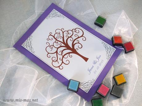 Svatební strom č.2 - netradiční kniha hostů,