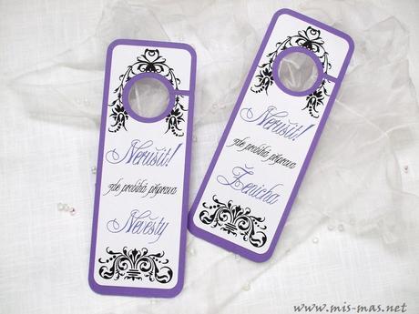 Svatební visačky na dveře - exclusive,