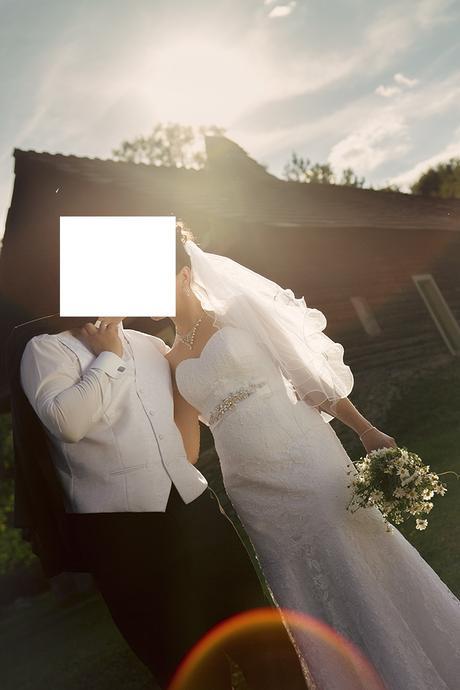 svadobné šaty - francúzska krajka, 38