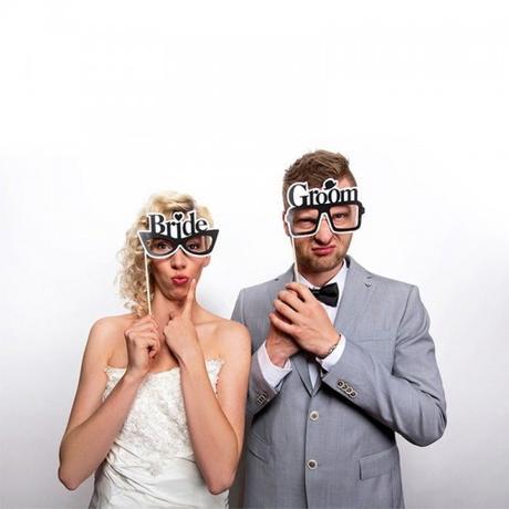 Rekvizity na fotenie Bride a Groom 2ks,