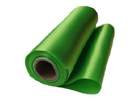 Satén trávovozelený 16cmx9m, 36cmx9m aj mašle,