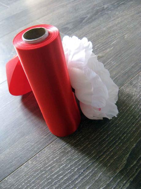 Saténová stuha červená 36cmx9m,