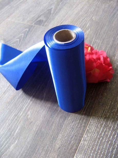 Saténová stuha modrá 36cmx9m,