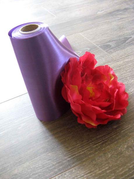 Saténová stuha purpurová 16cmx9m,