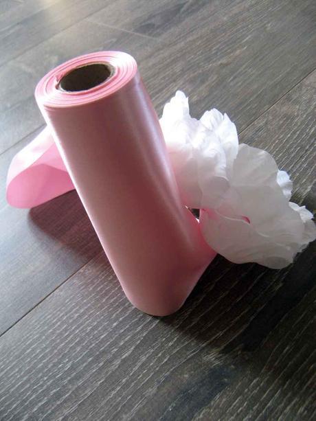 Saténová stuha ružová 16cmx9m,