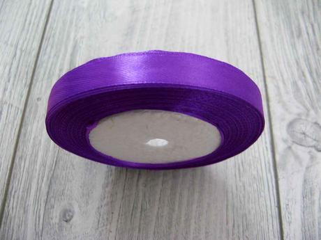 Saténová stužka fialová - Amethyst 6mmx32m,