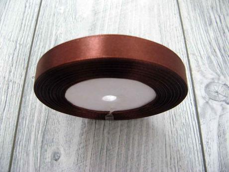 Saténová stužka hnedá - Brown 12,5mmx32m,