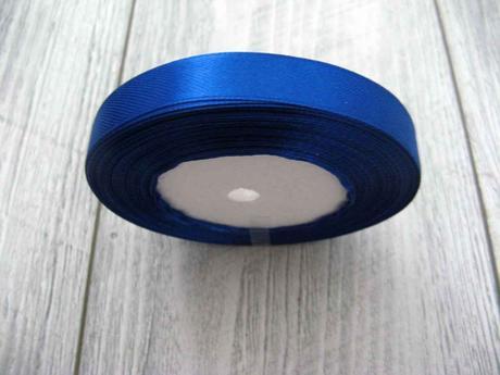 Saténová stužka modrá - Blue 12,5mmx32m,