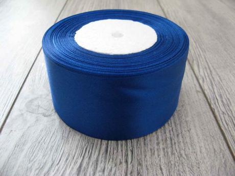 Saténová stužka modrá - Blue 50mmx32m,