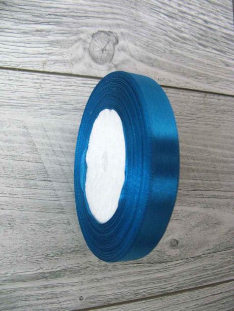 Saténová stužka modrá - Deep Blue 12,5mmx32m,