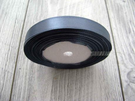 Saténová stužka tmavosivá - Dark Grey 6mmx32m,
