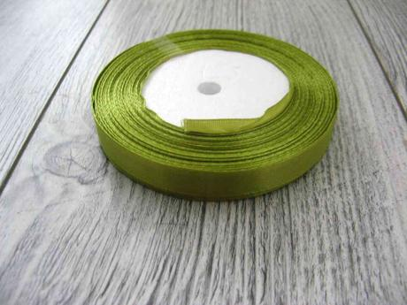Saténová stužka zelená - Green 12,5mmx32m,