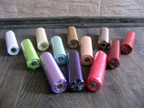 Saténové mašle rôzne farby - predaj,