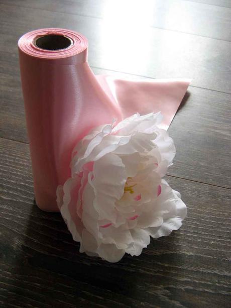 Saténové mašle - ružová - predaj,