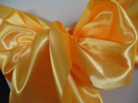 Saténové mašle - žltooranžová - predaj,