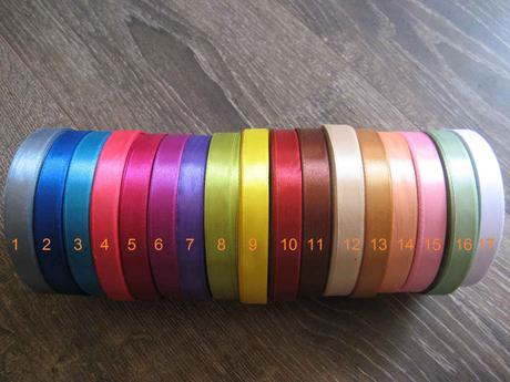 Saténové stuhy 12,5mm x 32m,
