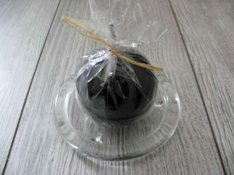 Sviečka guľa 6cm čierna lakovaná,