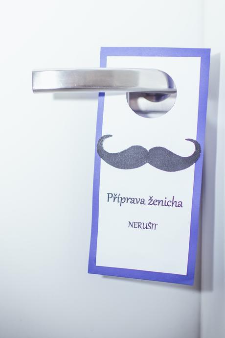 Visačky na dveře - ženich, nevěsta 2 ks,
