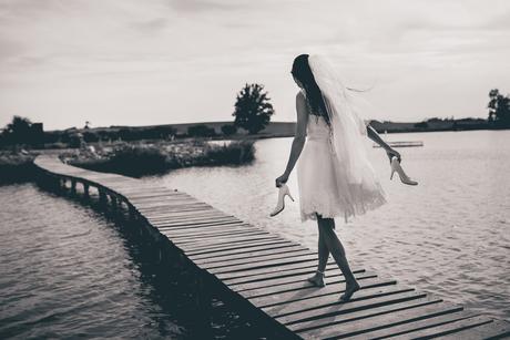 Krátké svatební šaty vel. 34, 34