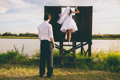 Krátké svatební šaty vel. 34 , 34