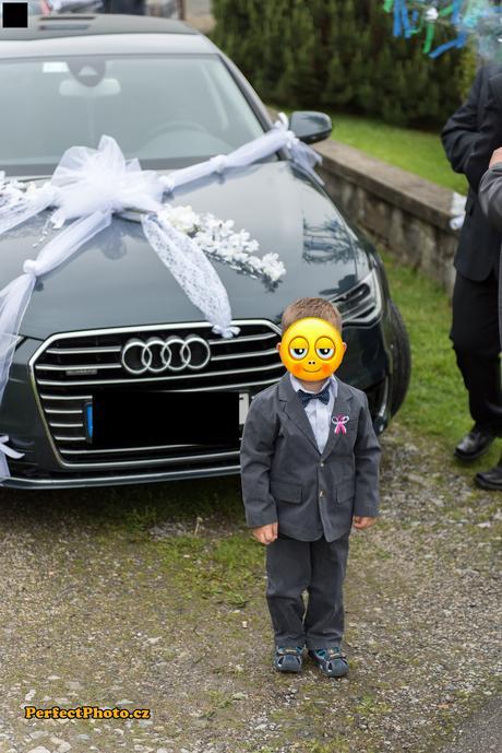 Svadobná dekorácia na auto 1ks,