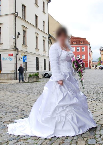 svatební šaty vel. 38 - 44/46, 40