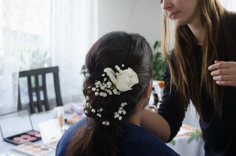 Umělá růže do vlasů,