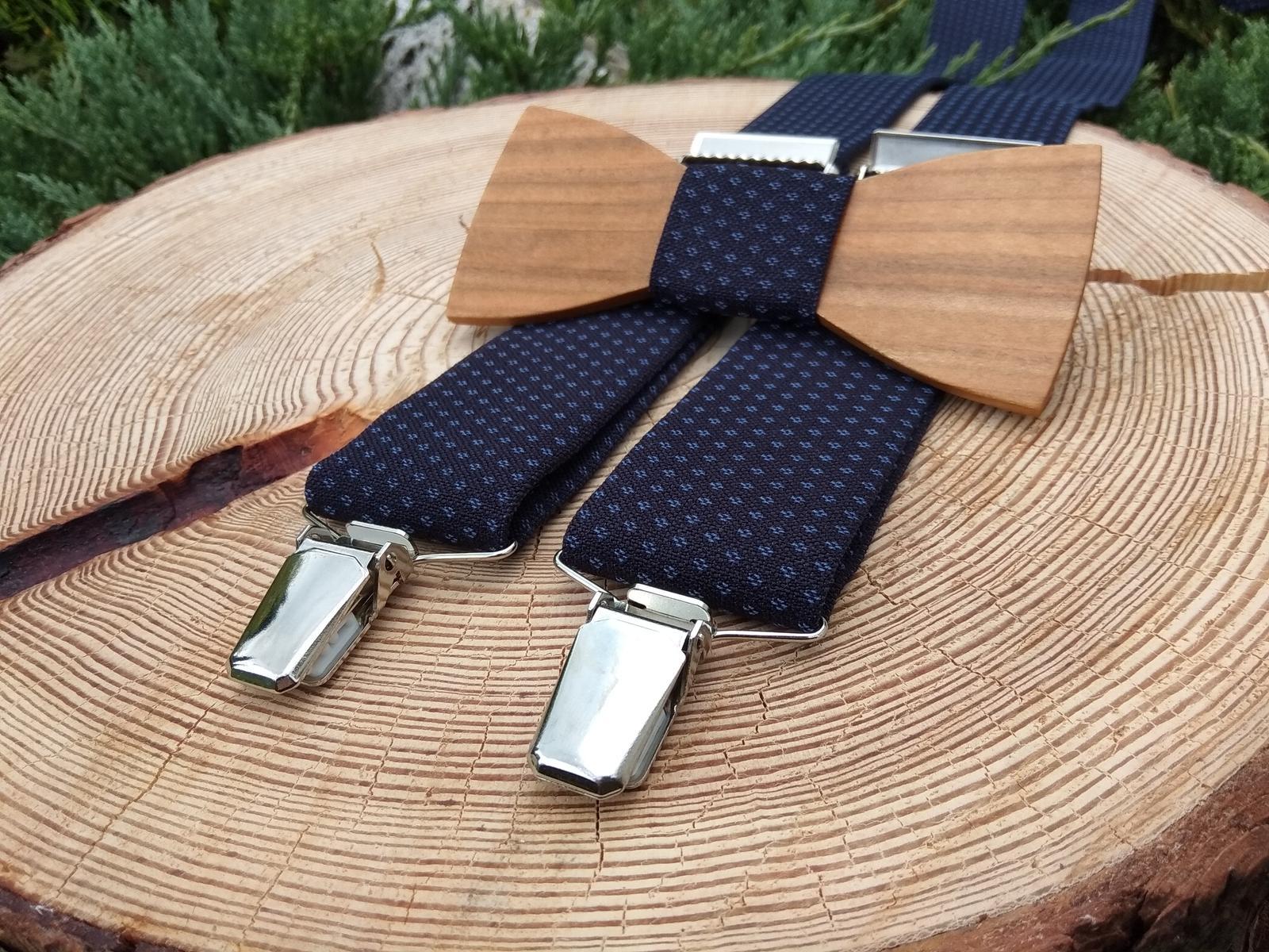 69fa3a53a Pánsky set - drevený motýlik a traky, - 35 € | Svadobný bazár ...