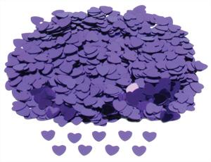 Konfety srdíčka fialová,