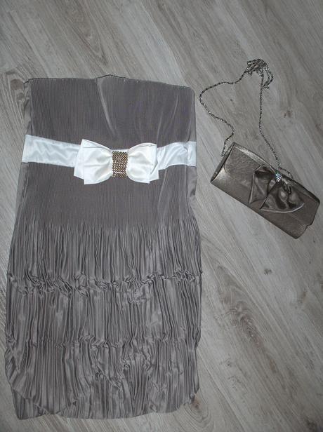 elegantne šaty +kabelka, S