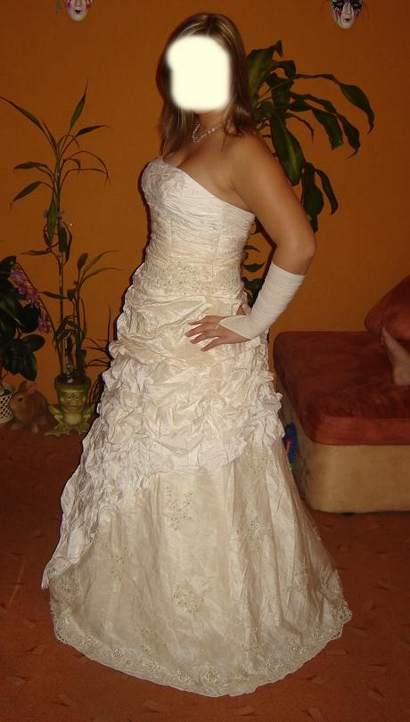 champagne šaty zn. Romantica, 40