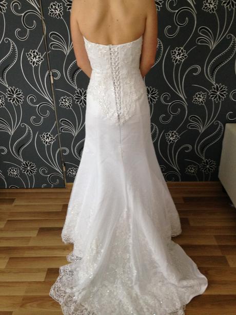 luxusné svadobné šaty zn. Igar+ závoj,spodnica,top, 38