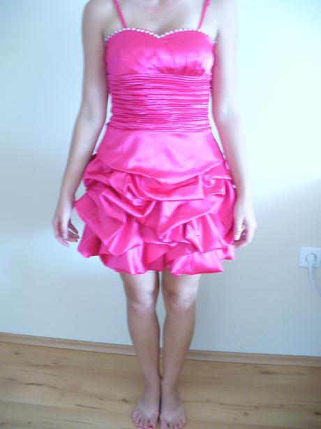 ružové cukríkové šaty, L
