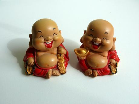 Buddha-sośky,figúrky-1 pár,
