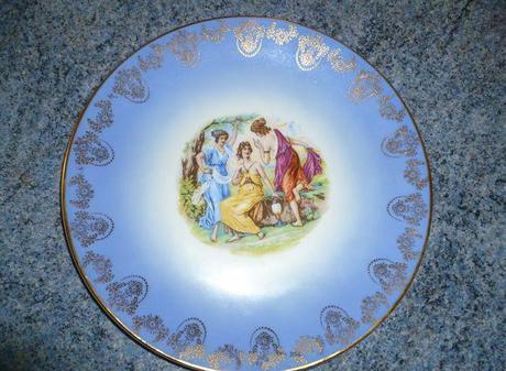 česky porcelán-tanier,