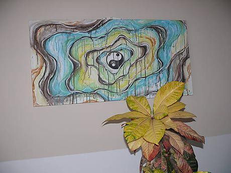 """Malba na plátne """"Yin-Yang""""-obraz-dusevná rovnováha,"""